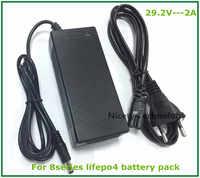 Cargador de 24 v 29,2 V 2A cargador 29,2 V LiFePO4 cargador de batería para 8S 24V LiFePO4 Paquete de batería envío gratis