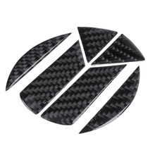 Car Tail Trunk Grooves Stickers Carbon Fiber Hollow Emblems for Volkswagen/VW Golf 5 6 7 Sagitar Magotan CC Tiguan Polo R20(China)
