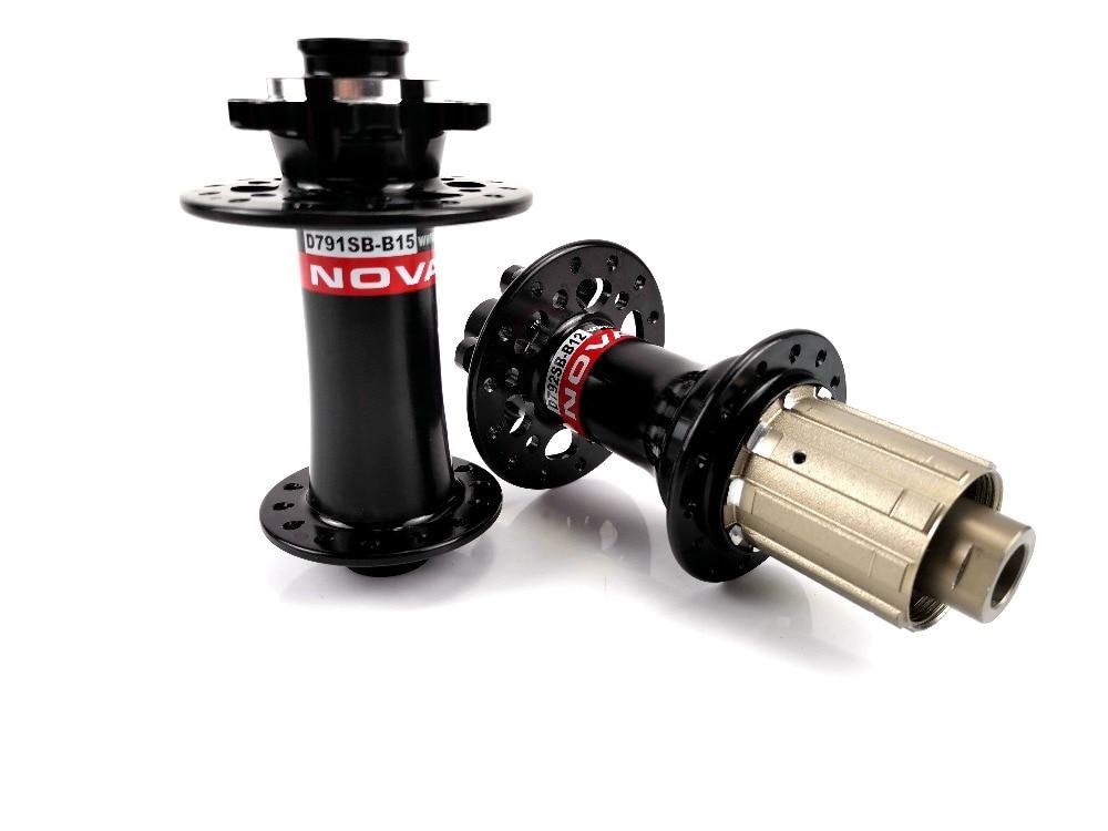 Novatec D791SB B15 D792SB B12 MTB disc brake boost hubs Front 110mm Rear 148mm alloy axle