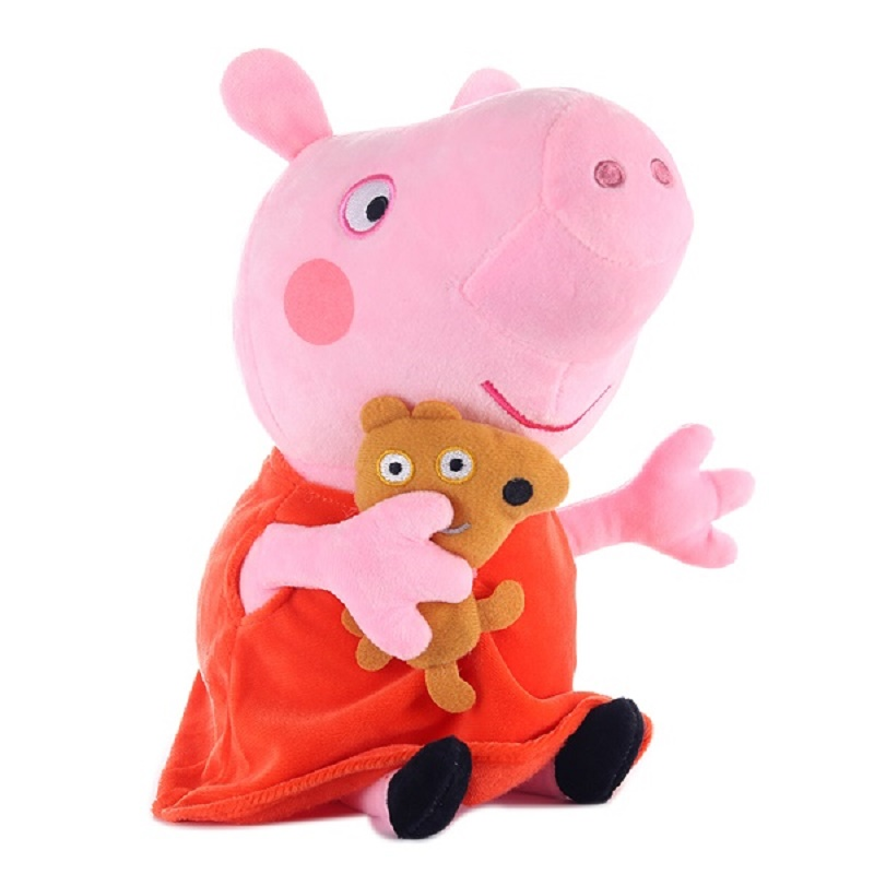 Original 19cm Peppa Pig George Animal Stuffed Plush Toys Cartoon Family Friend Pig Party Dolls For Girl Children Christmas Gift 4