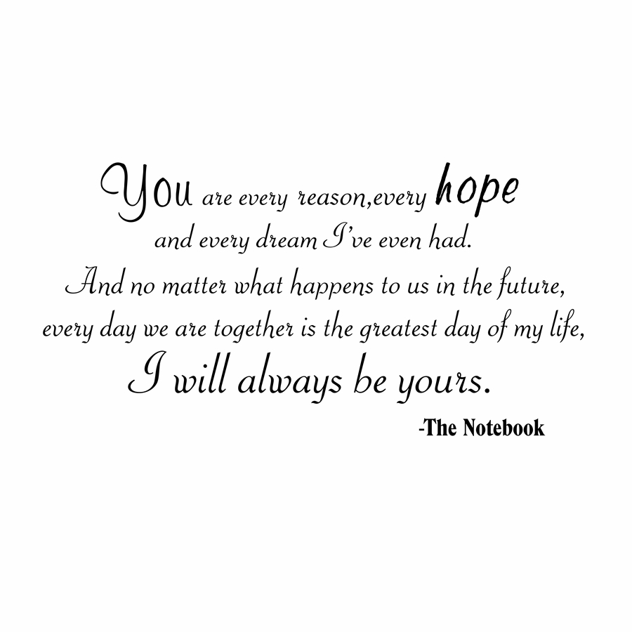 Free Shipping The Notebook I Will Always Be Yours Quotewords