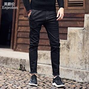 Image 2 - Enjeolon 2020 Nieuwe Heren Jeans Merk Zwarte Jeans Mannen Mode Lange Broek Heren Denim Jeans Broek Kleding Plus Size KZ6141