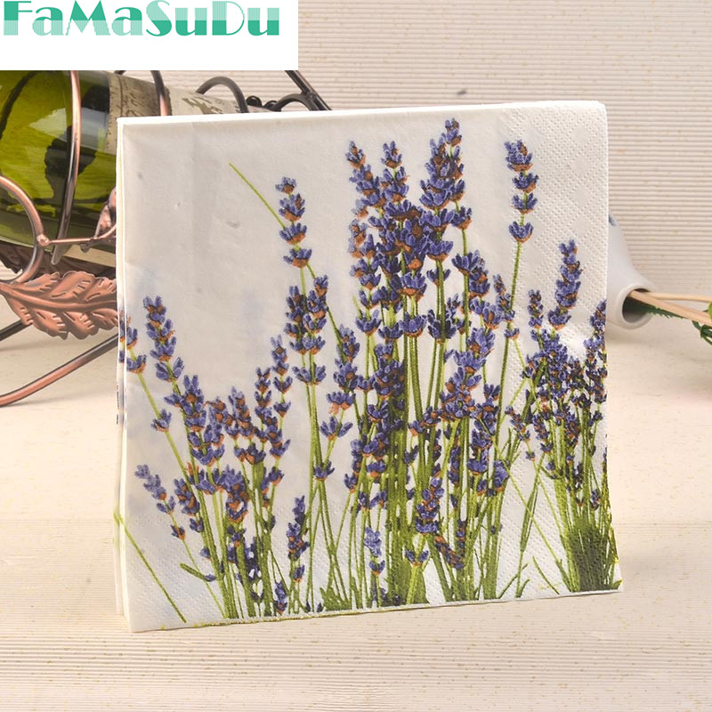 20pcs Bag Napkins Paper Tissue Servilletas Decoupage