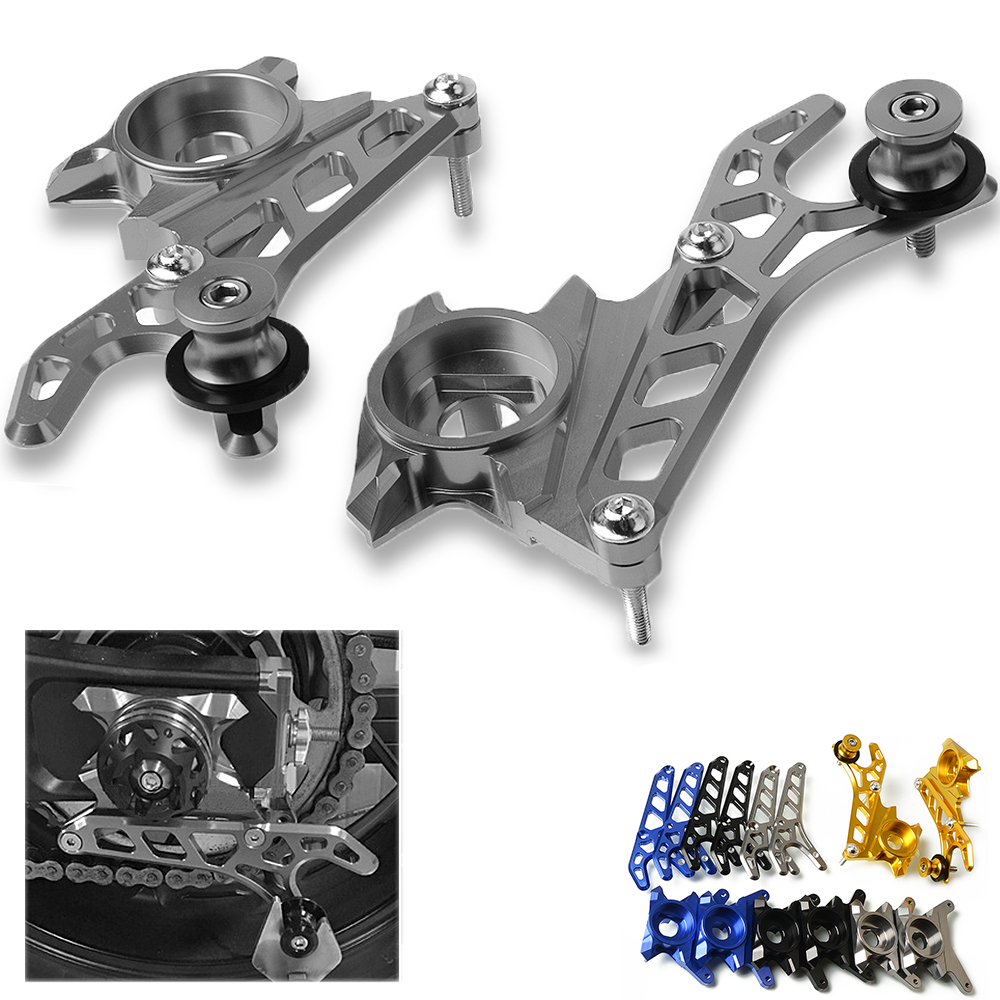 Motorcycle Aluminum Rear Wheel Axle Swingarm Stand Lifters Pick Up Hook Set For 2013-2017 Yamaha FZ MT 07 MT07 FZ07 MT-07 FZ-07 for yamaha mt07 mt 07 mt 07 motorcycle swingarm slider spools 6mm cnc aluminum mt 07 logo motor accessories stand screws
