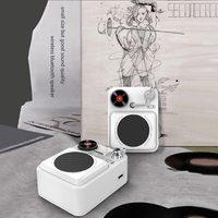 Retro Wireless Bluetooth Speaker Portable Mini Loudspeaker Stereo Music Surround Subwoofer Outdoor Speaker Sound System Radio A8