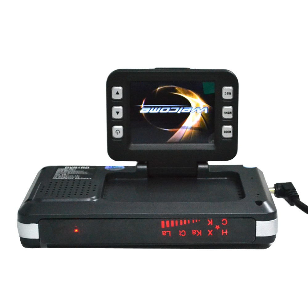 2 In 1 Multifunctionele STR8500 Auto DVR Radar Detector HD 720P 120 Graden Kijkhoek, engels en Russisch