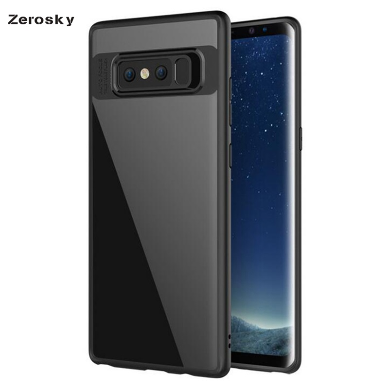 Note 8 Case for Samsung galaxy note 8 Case Back Cover Transparent Soft Edge Hard Acrylic Case for samsung note 8 Case Zerosky