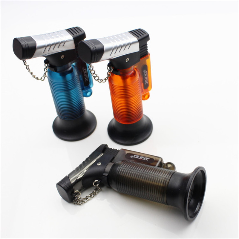 Image 3 - Two Nozzle BBQ Cooking Welding Torch Lighter Butane Jet Gas Lighter Turbo Portable Spray Gun 1300 C Windproof Cigar Pipe Lighter-in Matches from Home & Garden