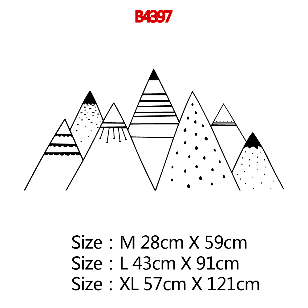 Large Mountain Self Adhesive Vinyl Wall Art Decal For Kids Room Wall Stickers Mural Bedroom Decals Decoration Wallpaper in Wall Stickers from Home Garden