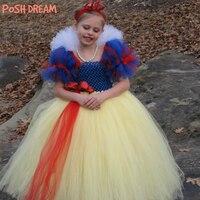 POSH DREAM Snow White Girls Kids Cosplay Tutu Dresses Snow White Princess Cosplay Party Costume Princess Kids Girls Clothes