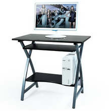250638/80cm steel wood computer desk table-style home simple modern desk small assembly learning desk