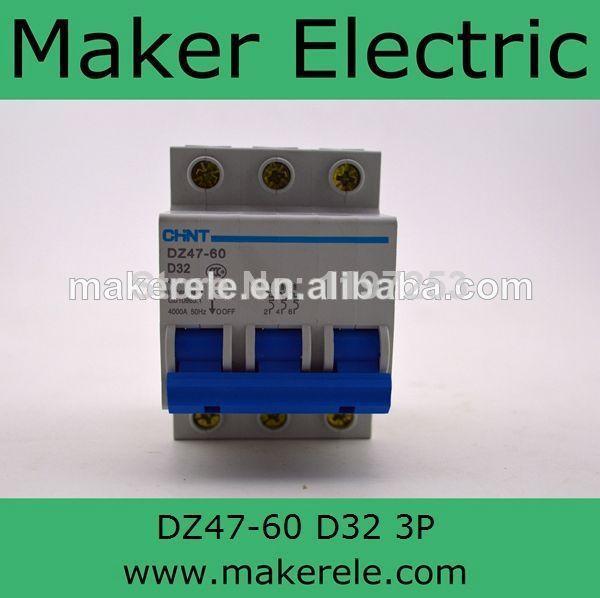 Mcb Miniature Circuit Breaker Elcb Price Dz47 60 3p D32