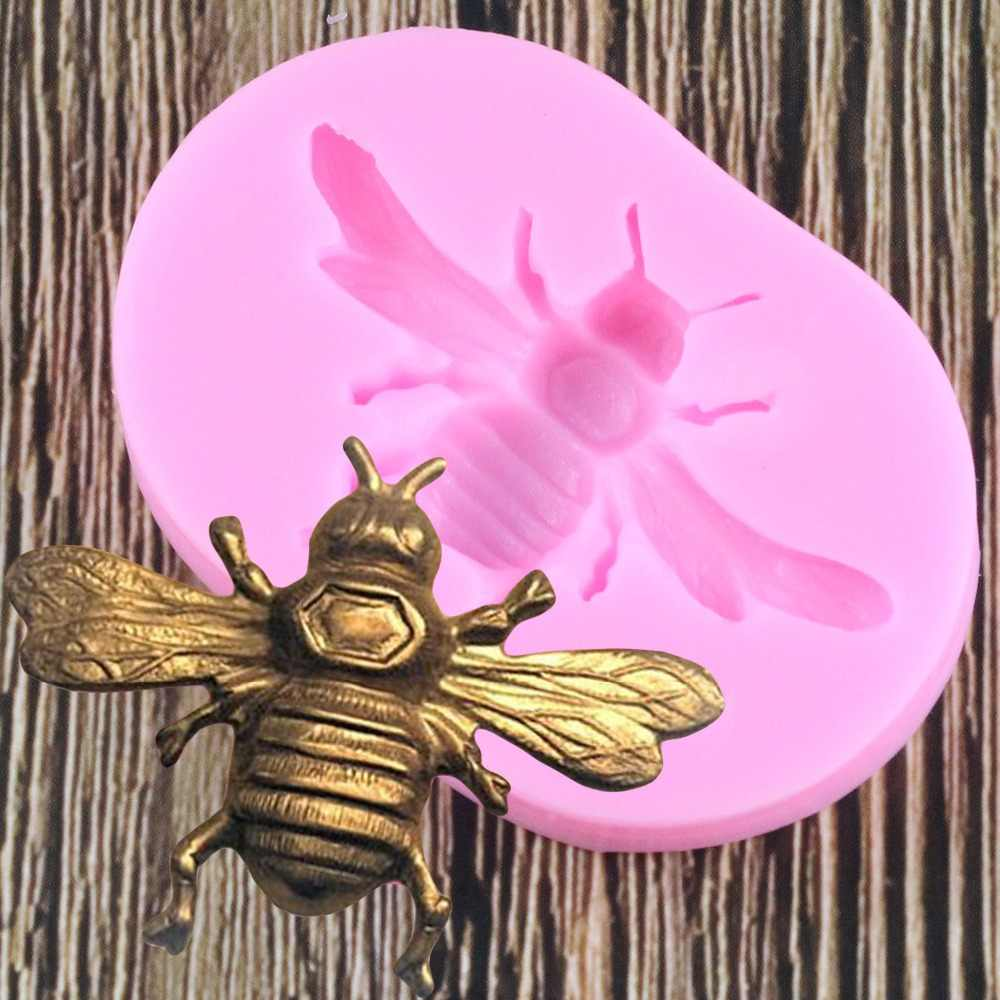 Bee Silicone Chocolate Molds Fondant Chocolate Cake Mold Resin Clay Candle Moulds DIY Kitchen Baking Cake Tools