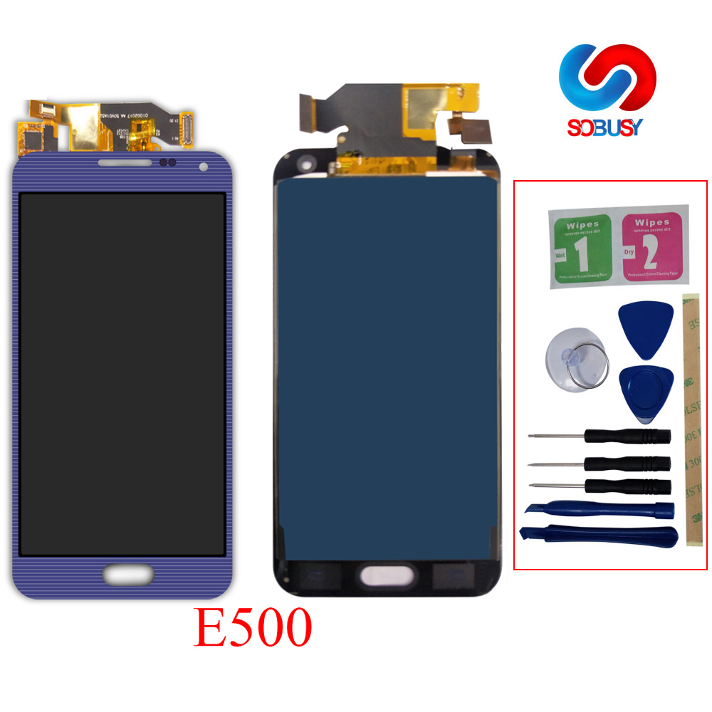 Sobusy <font><b>LCD</b></font> Ersatz teil für SAMSUNG Galaxy E5 E500 E500M E500F <font><b>E500H</b></font> <font><b>LCD</b></font> Display Touch Screen Panel Ecran Digitizer Montage image