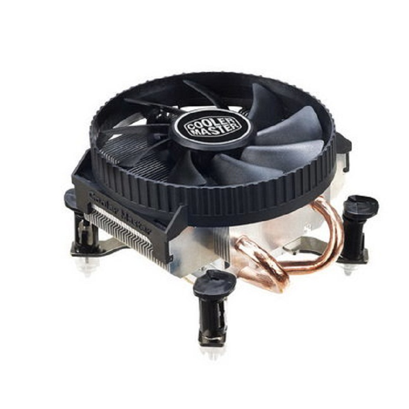 Cooler Master V200 2 Copper Heatpipes CPU cooler for Intel 775 115X M-ATX CPU radiator 90mm 3pin cooling CPU fan PC quiet original soplay for amd all series intel lga 115x cpu cooler 4 heatpipes 4pin 9 2cm pwm fan pc computer cpu cooling radiator fan