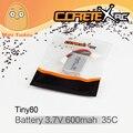 Minitudou CoretexRc 1 PCS Bateria 3.7 V 600 mah 35C Tiny80 Novo Micro Drone Quadcopter FPV Corrida