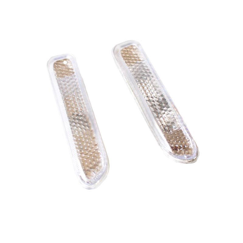 JEAZEA 2Pcs Left + Right Car Front Side Turn Signal Light MarkerIndicator for BMW 3 Series E46 2pcs left