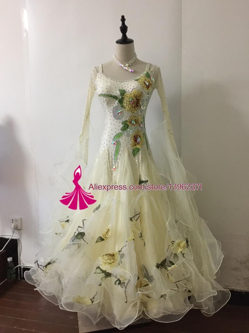 Společenské taneční šaty Taneční šaty Ženy Nový design Přizpůsobení Standardní taneční šaty Flamenco Waltz