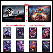 2019 Avengers Endgame White Coated Paper Poster Wall Sticker Frameless