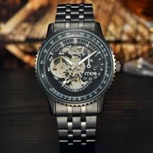 MCE Марка мужские Часы Высококлассные Атмосфера Черный Часы Военные Спортивные Часы Моды для Мужчин Полые Автоматические Механические Часы часы