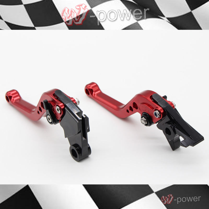 For YAMAHA FZ6R XJ6 Diversion 09-15 Motorcycle Accessories CNC billet aluminum Short Brake Clutch Lever Red