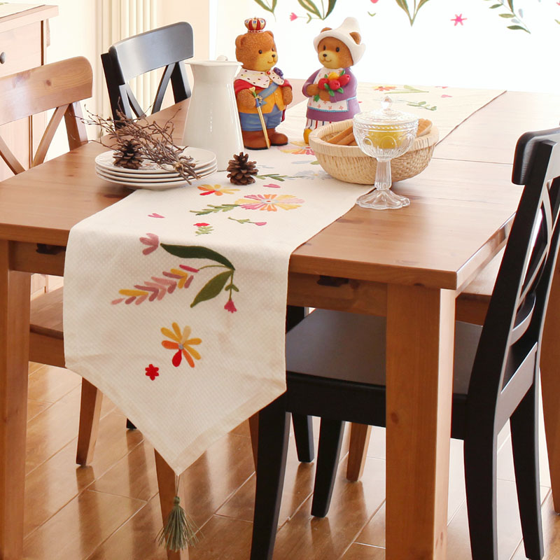 Tarohome Table Runners With Tassels 40cm 112 160 180 200