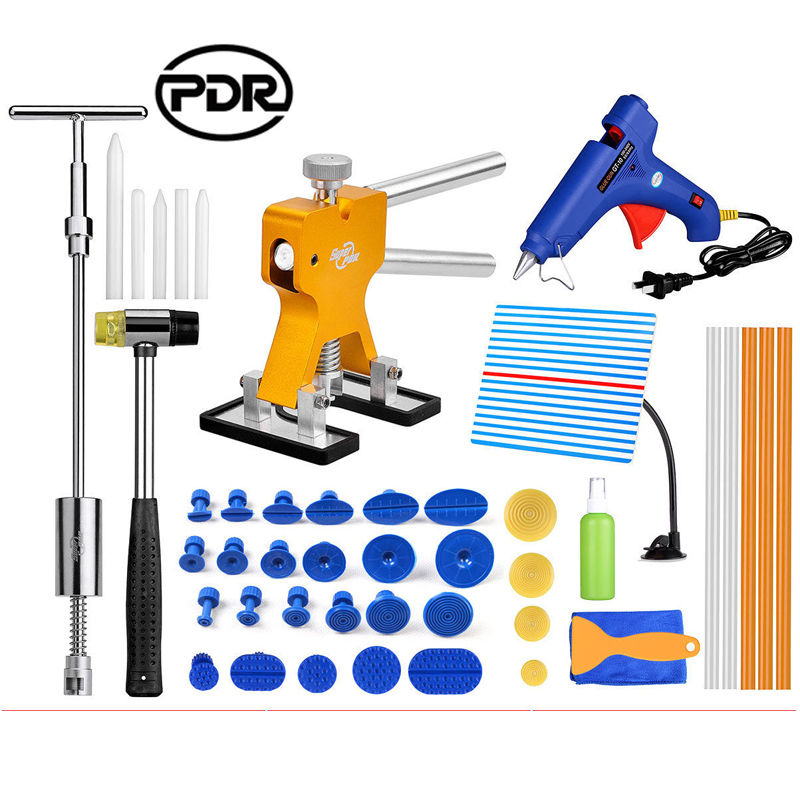 Super PDR Tools Paintless Dent Repair Removal Reflector Board Dent Puller Mini Lifter Slide Hammer Dent Lifter Puller Set