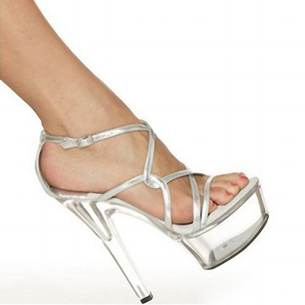 Stylish Gladiator Platforms Women Open Toe 15cm High Heel Crystal Shoes, Toeless Stiletto, Sandals, Wedding Shoes
