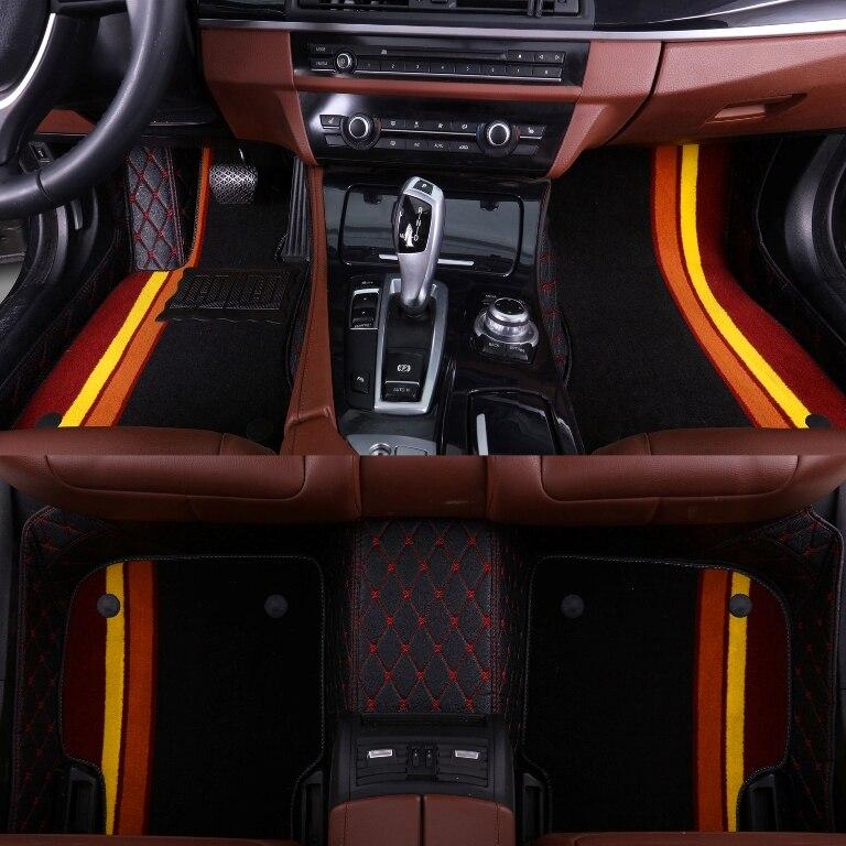 Car floor mats for Volkswagen Beetle CC Eos Golf Jetta Passat Tiguan Touareg sharan 5D car styling carpet floor liner