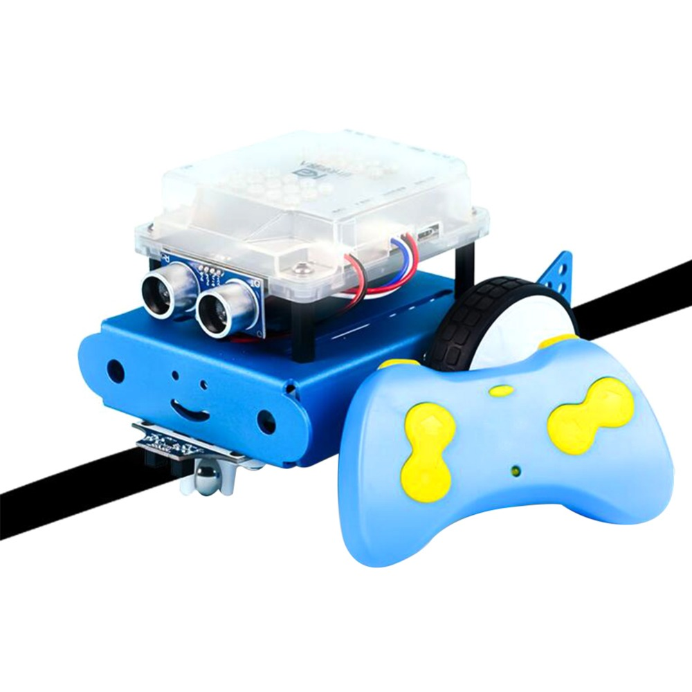 Kids Remote Control Robot Toys DIY Robot Car Kit With Intelligent Programming Assembled RC Robot Children High Tech Toys