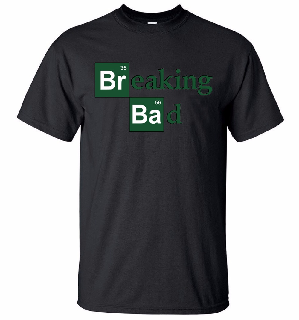 Men's 2019 Breaking Bad Printed T Shirts Fashion Heisenberg Summer Short Sleeve T-Shirt Round Neck Streetwear Hip Hop Tops Tees