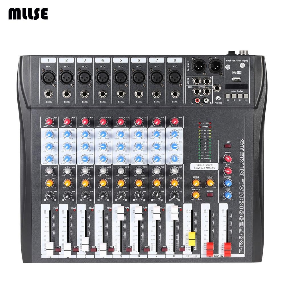 nfs2ru ct80s usb 8 channels mixing console equipment professional audio dj mixer in karaoke. Black Bedroom Furniture Sets. Home Design Ideas