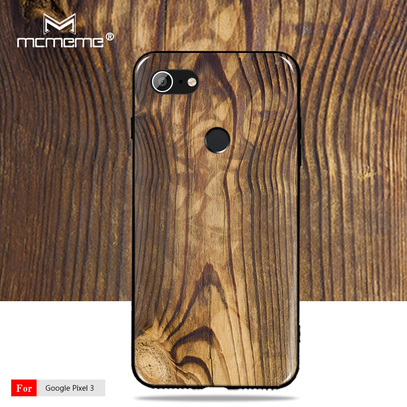 For Google Pixel 3 Case Cover Soft TPU Wood Grain Pattern Silicone Cover For Google Pixel 2 2Xl 3 Xl 3Xl Phone Case
