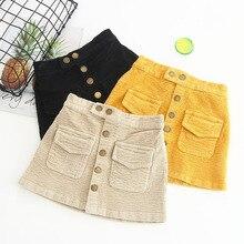 Baby girl skirt autumn winter baby corduroy children skirt cotton gray velvet skirt children's clothing