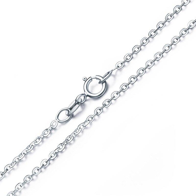 Utimtree оптовая продажа S925 штампованные Серебряный звено цепи ожерелья для Для женщин девочек застежкой омар ожерелье 16-24 дюйм(ов) 1 мм