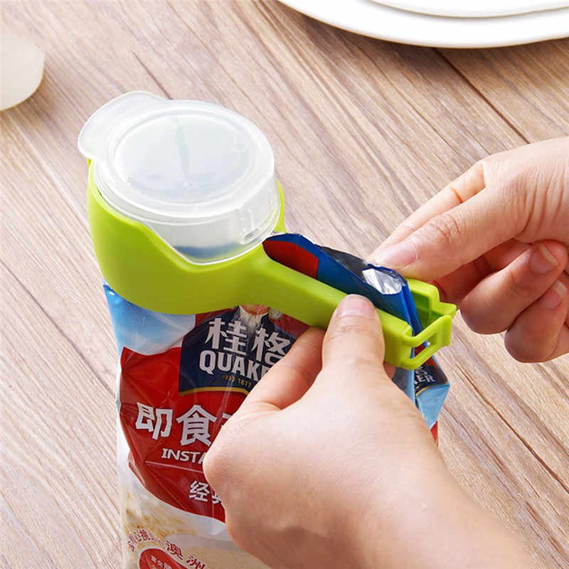 Seal Pour Food Storage Bag Clip Snack Sealing Clip Fresh Keeping Sealer Clamp Plastic Helper Food Saver Travel Kitchen Gadgets