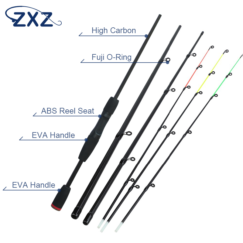 ZXZ Fishing Rod 99% Carbon Feeder Rod Fuji O-ring 300cm Length4 Sections Lure Fishing Stick Fishing Tackle De Pesca(China)