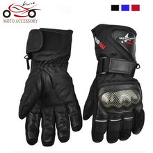 Pro biker Cycling Motorcycle Gloves Winter Warm Waterproof Windproof Protective Sports Racing Gears Accessories Guantes luvas