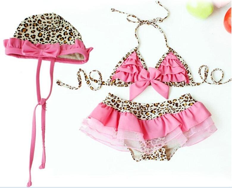 d2c1398b6 New Design Baby Leopard Swimwear Girls cute swimsuits Beach wear+hat Girl  Bikini toddler Bathing Suit,D345 on Aliexpress.com | Alibaba Group