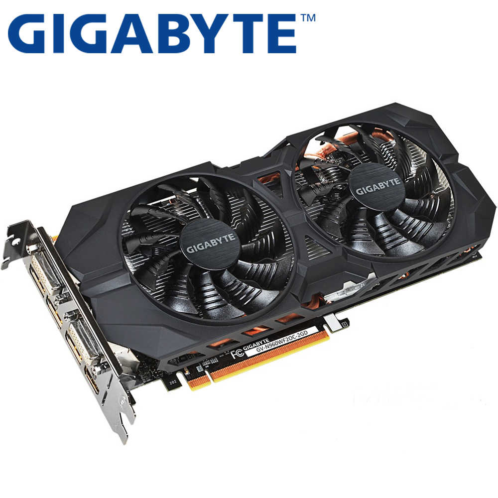 GIGABYTE Graphics Card Original GTX 960 2GB 128Bit GDDR5 Video Cards for nVIDIA VGA Cards Geforce GTX960 Hdmi Dvi game Used