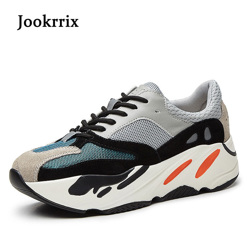 Jookrrix 2018 Spring New Girl Fashion Brand Vulcanized Shoe Women Lady Casual Shoe Real Leather Sneaker Leisure Flats Breathable