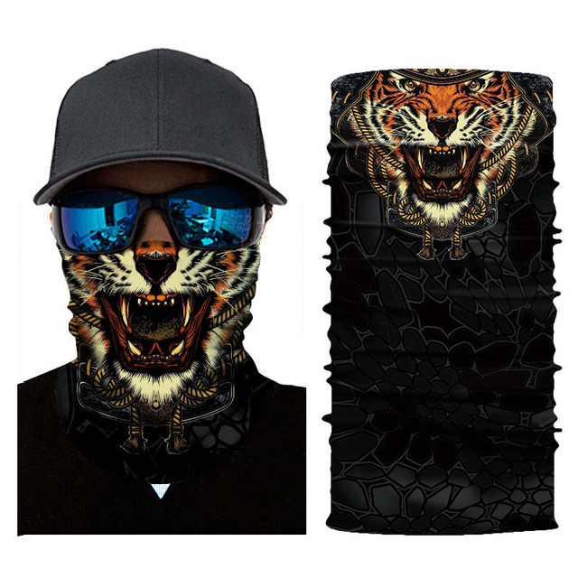 Cycling Headscarf 3D Printing Skull Face Mask Scarf Ghost Dust-proof Snowboard Neck Warmer Face Shield Balaclava Bandana AC0243 4