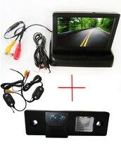 Беспроводной цветной пзс автомобиля камера заднего вида для CHEVROLET Epica лова Aveo Captiva Cruze Matis Lacetti + 4.3 дюймов складной монитор