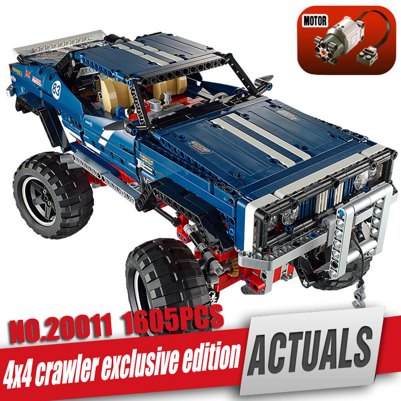 DHL LEPIN 20011 Technic series Super classic limited edition of off-road vehicles Model Building blocks Bricks Toy legoing 41999 lepin 20011 1605 pcs super classic limited edition of off road vehicles model building blocks bricks compatible toy 41999