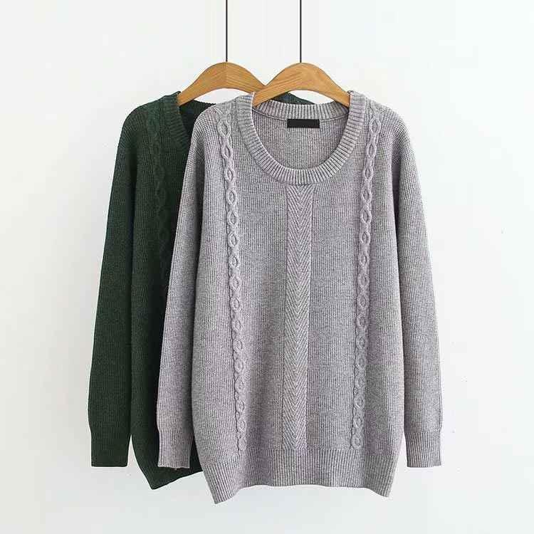 C2 осень-зима Свободные свитеры 5XL плюс Размеры женская одежда модные Свободные Вязание пуловер 2014