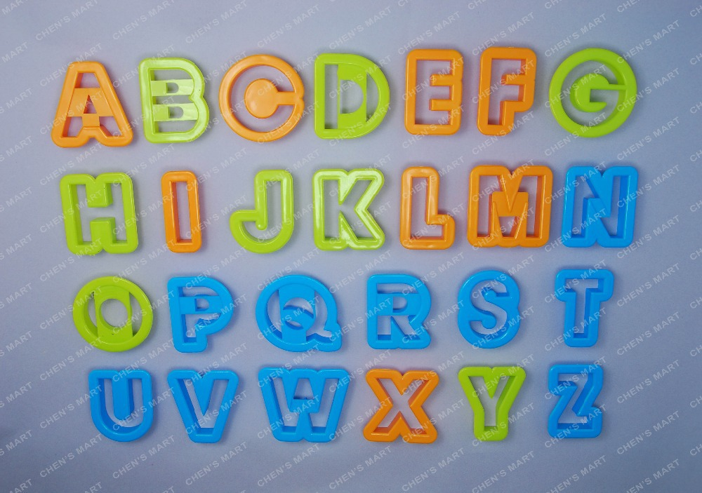 new baking 26 pc alphabet font biscuit cookie cutter letter fondant tool ice topper cake mold