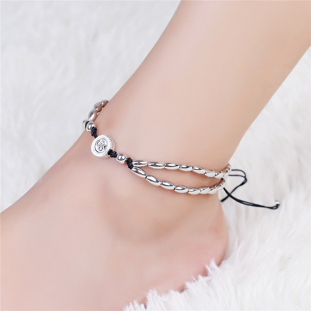 Vintage Bracelet Foot Jewelry Retro Anklet For Women Girls Ankle Leg Chain Charm Starfish Beads Bracelet Fashion Beach Jewelry 1