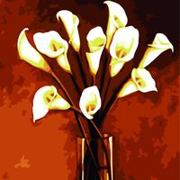 Framless New DIY Digital Canvas Drawing Oil Painting By Numbers Coloring By Numbers Kits Calla Lily