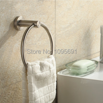 ФОТО Free Shipping 304 Stainless steel nickel Finished Bathroom Accessories Products Towel Ring,Towel Holder,Towel Bar