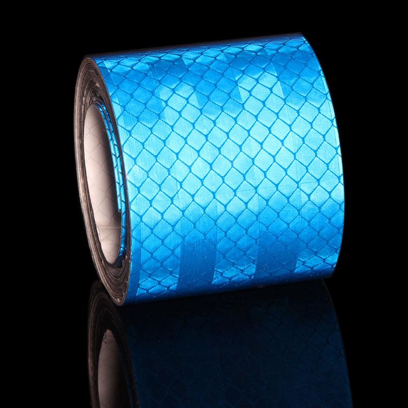 5CMX3M Blue Reflective Strip Car Stickers Reflector Trucks Motorcycle Safety Warning Tape Microprism Sticker